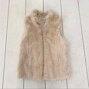 Zara Girl Fur Vest Sz 9-10
